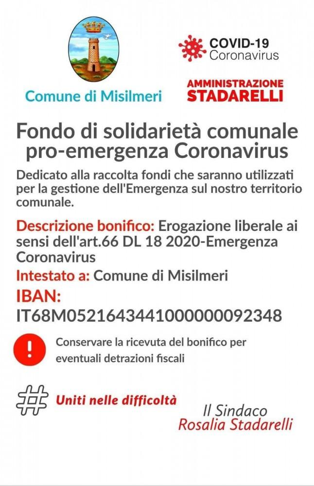 Fondo di solidarietà contro il coronavirus